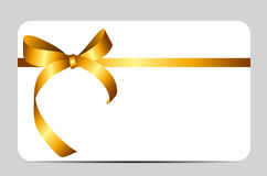 Card with Red Gift Ribbon. Vector illustration. EPS10 Stock Photos