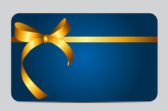 Card with Red Gift Ribbon. Vector illustration. EPS10 Royalty Free Stock Images