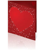 Card with red heart Royalty Free Stock Images