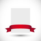 Card with red ribbon Royalty Free Stock Photos