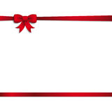 Card Red Ribbon Bow Cover Royalty Free Stock Image