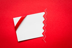 Card with red ribbons Royalty Free Stock Image