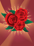Card with red roses Stock Photography