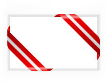 card with red and silver ribbon vector illustration