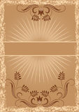 Card in retro style royalty free illustration