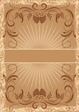 Card in retro style Royalty Free Stock Photo