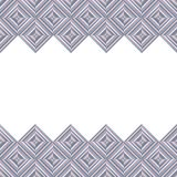 Card with rhombus decoration Royalty Free Stock Photo