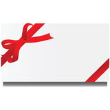 Card with ribbon Stock Photo