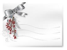 Card with ribbon Royalty Free Stock Photos