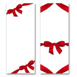 Card with ribbon and bow. The concept of Valentine's Day Royalty Free Stock Photo
