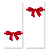 Card with ribbon and bow. The concept of Valentine's Day Royalty Free Stock Images