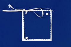 Card with ribbon Royalty Free Stock Photos