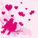 Card of romantic love birds vector eps 10 Royalty Free Stock Photography