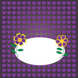 Card with room for text on a purple background wit Royalty Free Stock Images