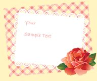Card and rose Stock Photo
