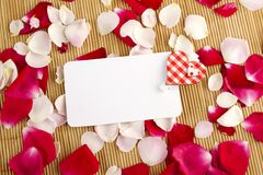 Card and roses Royalty Free Stock Images