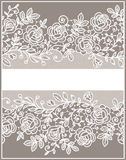 Card. Roses Lace Pattern. Royalty Free Stock Photo