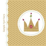Card with royal crown Royalty Free Stock Images