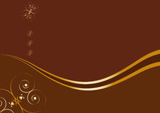 Card with sample text - chocolate concept Royalty Free Stock Images