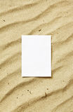 Card on sand Royalty Free Stock Photo