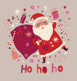 Card with Santa Merry Christmas background. Merry Christmas background. Card with Santa vector illustration