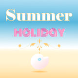 Card that says summer holiday Royalty Free Stock Photos