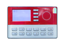 Card scan on access control Royalty Free Stock Photo