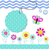 card with scrapbook baby elements Royalty Free Stock Image