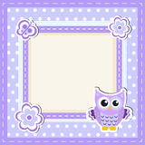 Card, scrapbooking baby animals Stock Images