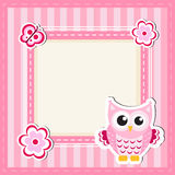 Card, scrapbooking baby animals Royalty Free Stock Photos