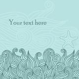 Card with sea background Royalty Free Stock Photography
