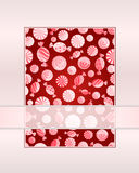 Card with seamless candy pattern Stock Photography