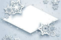Card Season Winter Frame Stock Photo