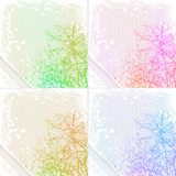 Card Set. Grunge tree background with place for text Royalty Free Stock Photography