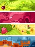 Card set. Vector illustration of a cute card set Stock Photo