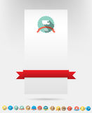 Card Set of color retro vintage badges and labels Royalty Free Stock Images