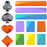 Card Shaped Web Buttons Royalty Free Stock Photos