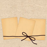 Card with sheets and rope for design Stock Images