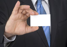 Card showing businessman stock photography