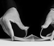 card shuffling Royalty Free Stock Image