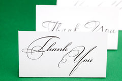 Card signed thank you Royalty Free Stock Photography