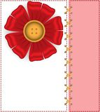 A card with a silk flower Royalty Free Stock Photo
