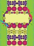 card sländahälsningen Arkivbild