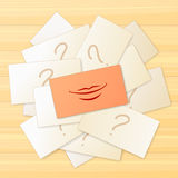 Card with smile sign Royalty Free Stock Images