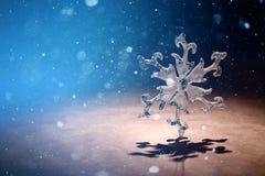 Card with snowflake Stock Photos