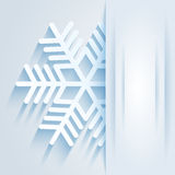 Card with snowflake Stock Images