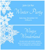 Card with snowflakes Stock Image