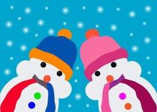 Card with snowman Stock Photos