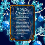 Card with space for text and style Christmas tree Royalty Free Stock Photo