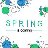 Card spring is coming using personal font vector illustration